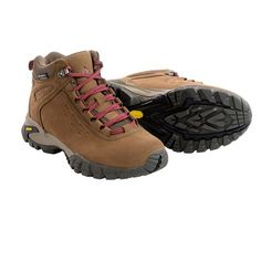 Vasque Talus Ultradry Hiking Boots - Waterproof (For Women) in Dark Earth/Rumba Red