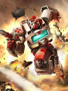 Autobot Ratchet Artwork From Transformers Legends Game