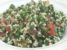 tabouleh (lebanese parsley salad), Not only is it my favorite but it's also crazy healthy for you! -Z-