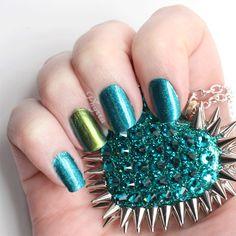ILNP Admire Me via @Phyrra #ilnpbrand #teal #green #nailpolish #nailart #beauty