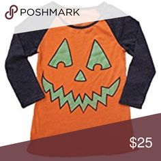 "Vintage Style Pumpkin Baseball Halloween Tee Shirt Jack-O-Lantern Halloween t-shirt Tag says ""medium"" but listed as a small because it is more like a junior medium/women's small 55% Cotton/ 45% Polyester LOL Vintage Tops Tees - Short Sleeve"