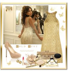 """I Love Gold!"" by yoa316 ❤ liked on Polyvore"