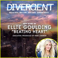 "Who else is getting super excited for Divergent to hit theaters and even more, for the soundtrack to drop?  Good thing that Ellie Goulding's ""Beating Heart"" was just released!  ""I got to jam, like you would jam on a guitar, but just with my voice,"" Ellie shared with EW3 about recording the track. ""I really enjoyed it.""  The soundtrack, comprised of 16 total tracks, features a score by Hans Zimmer and Junkie XL with pre-orders on iTunes and Target beginning TOMORROW, February 25th."
