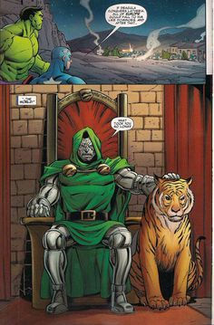Doctor Doom chillin with his cat