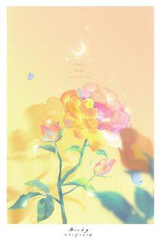 """Thưởng thức bộ ảnh """"Thời gian yên tĩnh"""" đầy màu sắc của artist Mochy Kawaii Wallpaper, Cute Wallpaper Backgrounds, Pretty Wallpapers, Galaxy Wallpaper, Disney Wallpaper, Nature Wallpaper, Cool Wallpaper, Flower Aesthetic, Aesthetic Art"""