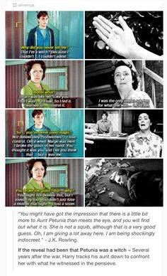 Aunt Petunia and Harry is this true?!