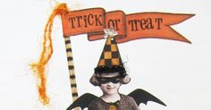 """I love figures on spools. When I saw some cute Halloween spools  made by Lynn Stevens, I thought, """"Why have I never done trick or treaters?""""..."""