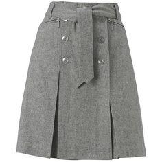 Hobbs Après Ski Skirt, Ash, 10 ($160) found on Polyvore