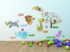 壁を可愛くデコレーション ウォールステッカー 動物園