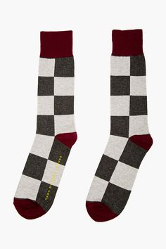 MARC BY MARC JACOBS Grey Check Socks