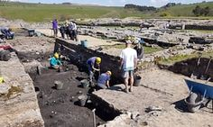 The excavation trench where the cache of Roman letters was found at Vindolanda fort.