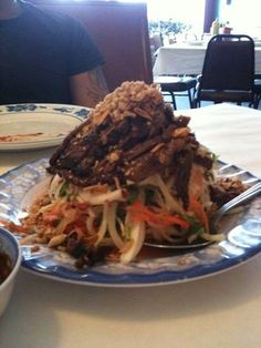 Papaya Salad with grilled beef from Hoanh Long