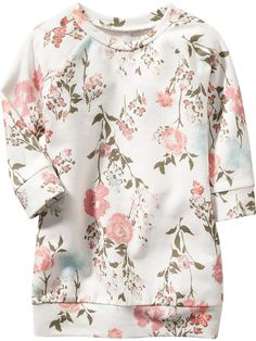 Floral Sweatshirt Dresses for Baby -- Too cute!! I'm ready for fall! My wallet is shaking in it's boots!