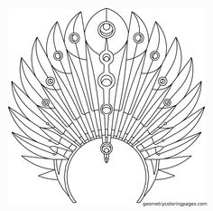 Coloring Page, Headdress