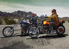 "Walter Loeser, 98 and Kurt Neuhaus, 90 ""DECEMBER 2015 – Easy  Rider"" A German Contilia Retirement Group made a calendar where seniors amazingly recreated famous movie scenes."