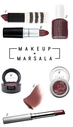 Marsala, Color of the year! Absolutely LOVE this color. I have the Clinique Black Honey and it's amazing