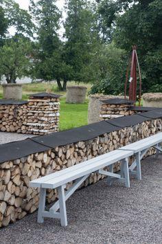 Hemlängtan: Wij trädgårdar Wood storage solved. Build it again next year.