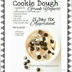 One of my Favorite snacks! 21 Day Fix Approved! If you are doing 21 Day Fix Extreme, you cab replace the honey with a bit of Stevia and the chocolate chips with fruit! Just as delicious Day Fix Recipes Snacks) 21 Day Fix Desserts, 21 Day Fix Snacks, 21 Day Fix Diet, 21 Day Fix Extreme, Healthy Sweets, Healthy Snacks, Healthy Recipes, Fruit Snacks, Fixate Recipes