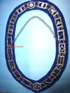 Master Mason Chain Collar Silver Finish Blue Velvet Blue Velvet, Freemasonry, It Is Finished, Chain, Diamond, Popular Sports, Silver, Ebay, Jewelry