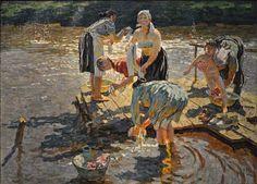 Sergey (born and Alexey (born are famous Russian artists-Artist - Art Russe Russian Painting, Russian Art, Figure Painting, Painting & Drawing, Classical Realism, Socialist Realism, Soviet Art, Ukrainian Art, Impressionist Art