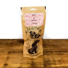 A delicious air-dried treat for dogs! Alfie & Molly's Beef and Garlic Jerky. Made in the UK. Natural Dog Treats, Beef Jerky, Healthy Dog Treats, Garlic, Dogs, How To Make, Doggies, Pet Dogs