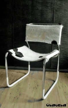Cowhide & Rubber Do It Again Chrome Chair by Omforme