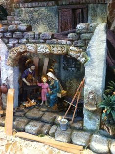 Pesebre Church Christmas Decorations, Christmas Nativity, Dollhouse Miniatures, Halloween, Nativity Scenes, Belem, Crafts, Diy, Painting