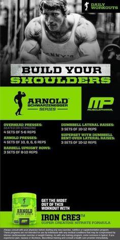 Arnold shoulder workout my musclepharm