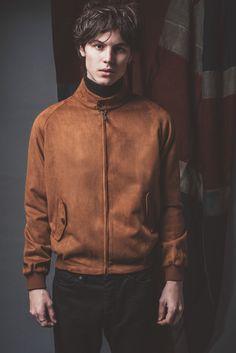 Mens 'Stretford' Suede Harrington Jacket by Phix Clothing.