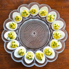 Perfect Creamy Deviled Eggs are an easy vegetarian side for your Fourth of July party this year. #restandrelish #instantpotrecipes #fourthofjulysidedish