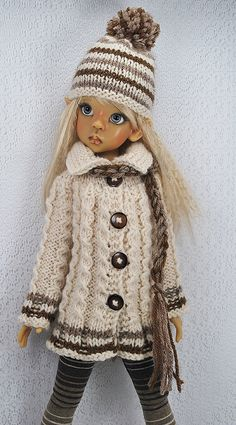 browns5 | Flickr - Photo Sharing! Sewing Barbie Clothes, Knitting Dolls Clothes, Crochet Doll Clothes, Knitted Dolls, Girl Doll Clothes, Crochet Dolls, Crochet Baby, Barbie Kids, Barbie Skipper