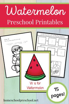 This watermelon printable is perfect for your summer lesson plans! Kids ages 3-6 can practice fine motor skills, counting, and the letter Ww. #watermerlonprintable #watermelonpreschooltheme #wisforwatermelon #homeschoolprek Summer Lesson, Preschool Education, Preschool Printables, Fine Motor Skills, Lesson Plans, Watermelon, How To Plan, Motor Skills, Preschool Worksheets