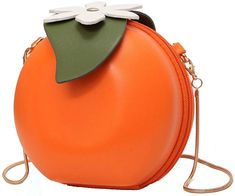 8bf367897b Amazon.com  MILATA Fruit Orange Shaped Women Pu Leather Clutch Purse Cross  Body Bag  Clothing