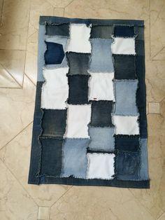 Tapete aproveitando velhos jeans