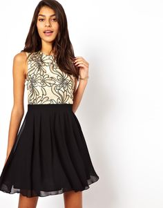 Little Mistress | Little Mistress Babydoll Prom Dress with Embellished Bodice at ASOS