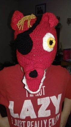 Foxy hat I created for a Halloween costume.. the day before Halloween