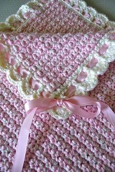 free crochet baby blanket patterns - Google Search