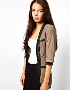 Enlarge Cote By Improvd Betia Leather Blazer With Cropped Sleeves