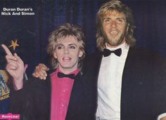 DURAN DURAN pinup - NICK RHODES & SIMON LE BON all dressed up! - ZTAMS