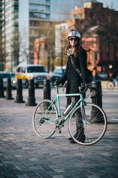 Amyrides a Bianchi Eros 27-speed bicyclephotographed at Christopher St. and West St.en route to meet…View Post