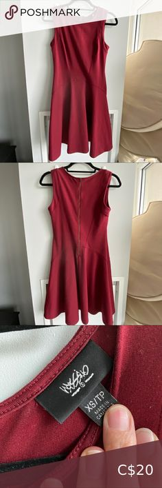 Red dress Beautiful and comfortable dress, can be dressy or casual Size: xsmall but fits more loosely like a medium Details: back zip closure Dresses Midi Plus Fashion, Fashion Tips, Fashion Trends, Lady In Red, Closure, Zip, Medium, Casual, Outfits