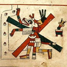 Xolotl - he god of lightning and death didn't usually guide the dead to Mictlan, the Aztec underworld, but had been known to on occasion. He was said to have brought fire from the underworld for humans, just like Prometheus in Greek mythology. His most common form is that of a man with a dog's head—but he can also be seen as a skeleton. Xolotl's most famous transportee was the sun, which the god was said to protect when it ventured into the underworld at night.