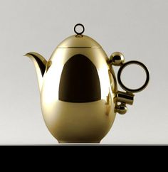 Geometrica Tea Pot Gold by Alessandro Mendini for Prouna