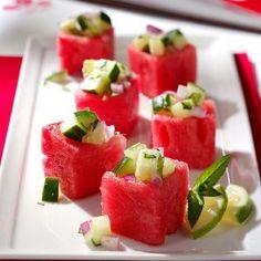 Menu #1 Appetizer: Watermelon Cups