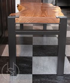 Hand Crafted Siberian Elm Bench by Where Wood Meets Steel | CustomMade.com