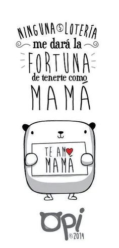 cortos para mamá - Harmonious Tutorial and Ideas Happy B Day, Happy Mothers Day, Love You Mom, My Love, Mr Wonderful, Mom Day, Mom Birthday, Mom Quotes, Kawaii