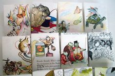 ecleccticconcepts hand made envelops from children's books.