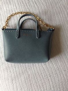 623ff7eb77f0 Lauren Ralph Lauren Blue mini bag key charm key fob Brand New Without Tag  in Clothes