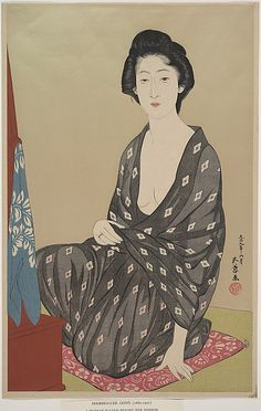 Hashiguchi Goyō (Japanese, 1881–1921). Woman in Summer Clothing, 1920. The Metropolitan Museum of Art, New York. The Howard Mansfield Collection, Purchase, Rogers Fund, 1936 (JP2432)