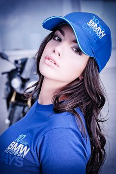 #BMW #Motorrad #Girl Motorbikes, Baseball Hats, Motorcycle, Fan, Girls, Cute, Fashion, Bmw Motorrad, Moda